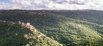Montfort Castle in Upper Galilee,Israel Stock Image