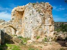 Montfort Castle in Upper Galilee, Israel Stock Photography