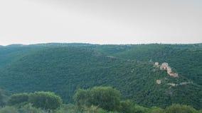 Montfort (Shtarkenberg) é um castelo arruinado do cruzado israel video estoque