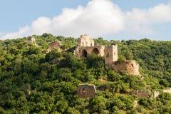 Montfort (Shtarkenberg) é um castelo arruinado do cruzado israel fotos de stock