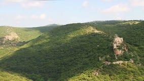 Montfort (Shtarkenberg) es un castillo arruinado del cruzado Israel almacen de metraje de vídeo