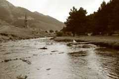Montgarri瓦勒d ` Aran 库存照片