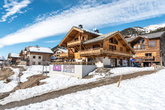 Montgenevre ski resort in the Hautes Alpes, France Royalty Free Stock Photography