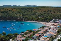 Montgo bay on the Costa Brava Royalty Free Stock Photography