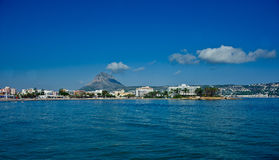 Montgo mountain and Javea bay Royalty Free Stock Image