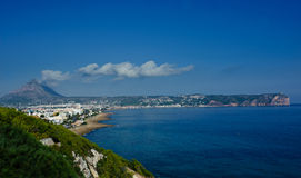 Montgo mountain and Javea bay Stock Image