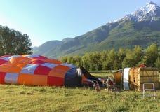 Montgolfière - Aosta, Italie Images stock