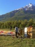 Montgolfière - la vallée d'Aoste, Italie Images stock