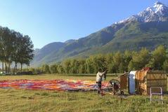 Montgolfière - la vallée d'Aoste, Italie Image libre de droits