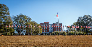Montgomery, Alabama Department of Veteran Affairs, Regional Office. A picture of the main building and flag staff of the Montgomery Department of Veteran Affairs Stock Image