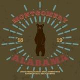 Montgomery, Alabama Gráfico de la camiseta Vector Fotografía de archivo libre de regalías