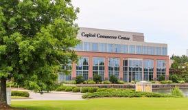 Capitol Commerce Center. Montgomery, ALABAMA - MAY 12, 2019: Capitol Commerce Center.  Current tenants including HP Enterprise Services, LLC, Enterprise Leasing stock image