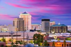 Montgomery, Alabama Skyline. Montgomery, Alabama, USA downtown skyline at night Stock Photo