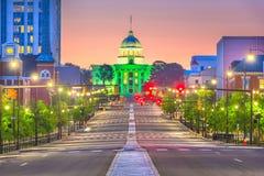 Montgomery, Alabama, U.S.A. con il Campidoglio dello stato fotografia stock