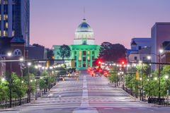 Montgomery, Alabama, USA. With the State Capitol Royalty Free Stock Image