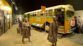 Montgomery Bus Boycott Exhibit inside the National Civil Rights Museum at the Lorraine Motel Royalty Free Stock Image