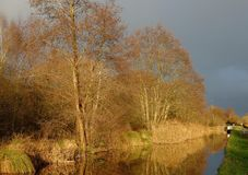 Montgomery Canal en País de Gales Reino Unido fotos de archivo