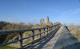 Montgomery Castle - Wales Royaltyfri Bild