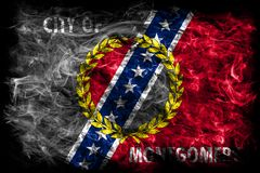 Montgomery city smoke flag, Alabama State, United States Of Amer Royalty Free Stock Image
