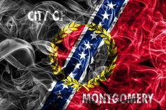 Montgomery city smoke flag, Alabama State, United States Of Amer. Ica royalty free stock photo