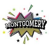 Montgomery Comic Text no PNF Art Style ilustração do vetor