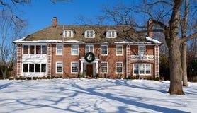 Montgomery House en nieve Fotografía de archivo