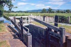 Montgomery-Kanal in Wales, Großbritannien Lizenzfreie Stockfotos