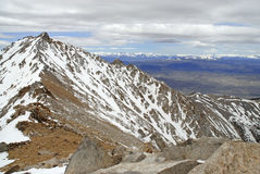 Montgomery Peak as viewed from summit of Boundary Peak in the White Mountains, Nevada Stock Images