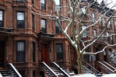 Montgomery Place Brownstones Royalty Free Stock Photography