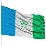 Montgomery Village City Flag on Flagpole, USA Stock Photos