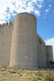 Montgri castle. On a hot summers day Royalty Free Stock Photo