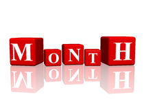 Month in 3d cubes Royalty Free Stock Image