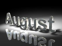 The month of August. In silver lettering Royalty Free Stock Photography