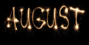 Month august sparkler Royalty Free Stock Images