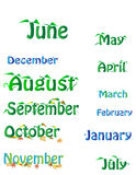Month of the calendar Stock Photo