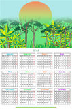 12 month Calendar Design 2018. Calendar Design 2018 file and printable Stock Illustration