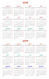 12 month Calendar Design 2018-2019. Calendar Design 2018-2019 vector file editable and printable Vector Illustration