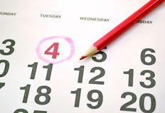 Month calendar Royalty Free Stock Photo