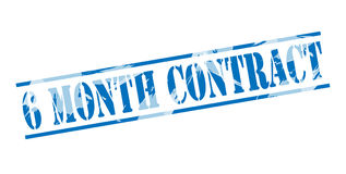 6 month contract blue stamp Stock Image