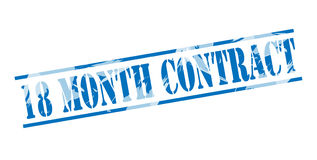 18 month contract blue stamp Royalty Free Stock Images