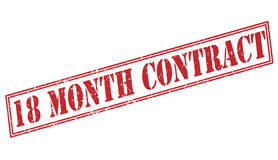 18 month contract red stamp Stock Photo