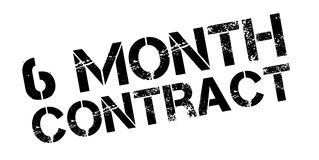 6 month contract rubber stamp Stock Image