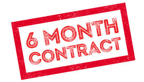 6 month contract rubber stamp Stock Photo
