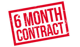 6 month contract rubber stamp Royalty Free Stock Photo