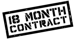 18 month contract rubber stamp Stock Image