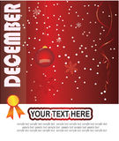 Month of december stock illustration