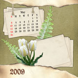 The month of May. Page of calendar in scrapbooking style Royalty Free Stock Photo