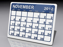 Month of November 2012 Stock Photos