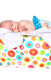 Month old baby as present in box Stock Photo