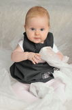 7 month old baby girl Royalty Free Stock Images